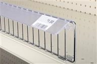 Data Strip – siffron's Data Strip products for price marking with paper tags include shelf channels, wire Data Strips, Data Strip label holders for cooler/freezer shelving, self-adhesive shelf channels, and Data Strip label holders for glass and wood.